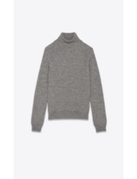 Turtleneck Sweater In Cashmere And Mohair by Saint Laurent