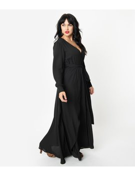 unique-vintage-black-long-sleeve-farrah-maxi-dress by unique-vintage
