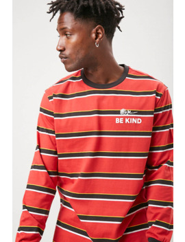 be-kind-graphic-striped-tee by forever-21
