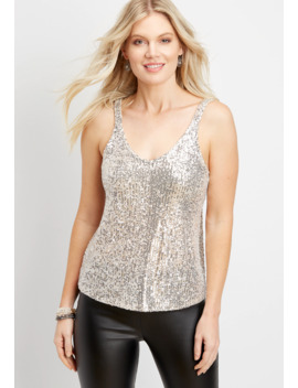 Sequin Sparkle Tank by Maurices