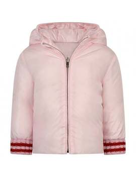 Baby Girls Pink Reversible Down Jacket by Gucci