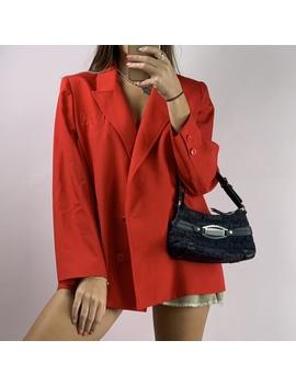 vintage-burberry-red-blazer by depop