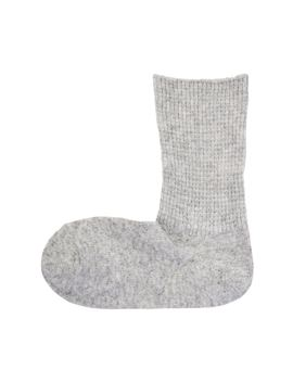 Womens Yak Mix Rib Stitch Right Angle Socks by Muji