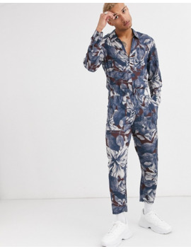 asos-design-relaxed-jumpsuit-with-utility-styling-in-floral-print by asos-design