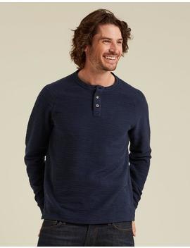 Kintbury Texture Henley T Shirt by Fat Face