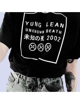 Yung Lean Unknown Death Aesthetic T Shirt by Aestheti Cat