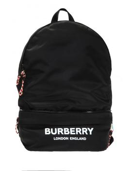 Logo Printed Backpack by Burberry