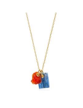 Caroline Issa Gemstone Double Pendant Adjustable Necklace by Monica Vinader