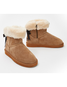 Lamo Water And Stain Resistant Suede Short Boots   Adele by Feeling Comfy And Looking Stylish In These Faux Fur Lined Boots