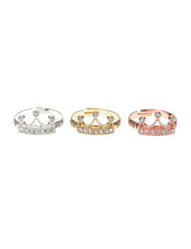 3 Pack Best Friend Crown Rings by Claire's