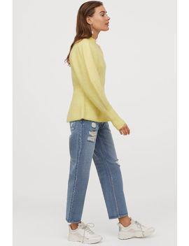 wool-blend-peplum-jumper by h&m