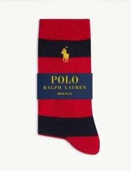 logo-rugby-stripe-cotton-blend-socks by ralph-lauren