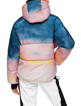 sno-ombré-water-repellent-hooded-ski-jacket by topshop