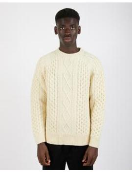 aran-jumper-white by levis-vintage-clothing
