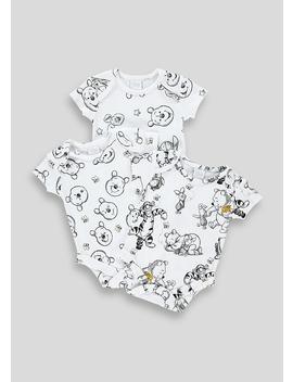 Unisex 3 Pack Winnie The Pooh Bodysuits (Newborn 12mths) by Matalan