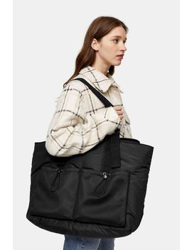 considered-major-mesh-pocket-recycled-polyester-tote-bag by topshop