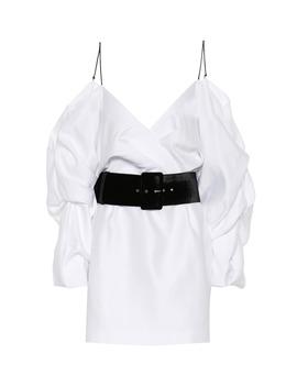 cold-shoulder-satin-minidress by rasario