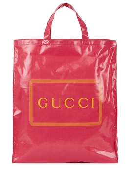 pink-logo-coated-canvas-tote by gucci