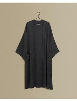 Jacquard Leaf Kimono  Woman   Clothing   Loungewear   Bedroom by Zara Home