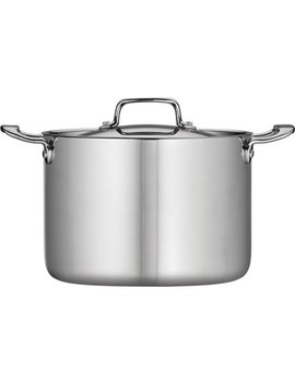 tramontina-8-qt-stainless-steel-tri-ply-clad-stock-pot-with-lid by tramontina