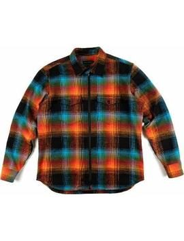 Double Plaid Flannel Zip Shirt   Men's by Raised By Wolves