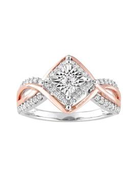 stella-grace-two-tone-10k-white-gold-1_4-carat-tw-diamond-geometric-halo-ring by stella-grace