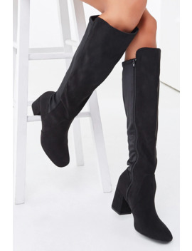 combo-block-heel-boots by forever-21