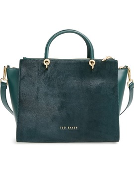 large-genuine-calf-hair-&-leather-tote by ted-baker-london