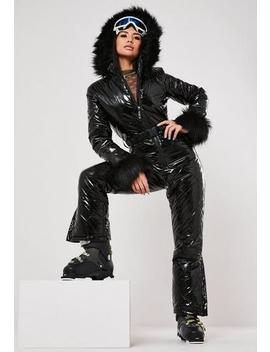 msgd-ski-black-vinyl-padded-snow-suit by missguided