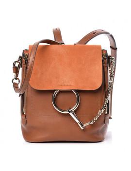 chloe-suede-calfskin-small-faye-backpack-tan by chloe