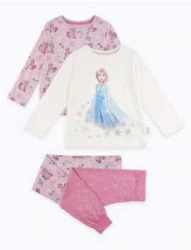 2-pack-disney-frozen-2-pyjama-set-(2-10-years) by marks-&-spencer