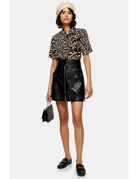 animal-print-frogging-detail-blouse by topshop