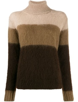 striped-rollneck-knit-sweater by golden-goose
