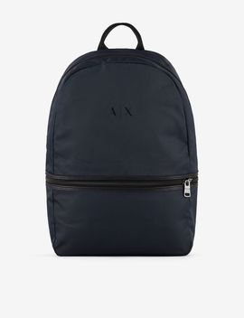 Backpack With Contrasting Lettering by Armani Exchange