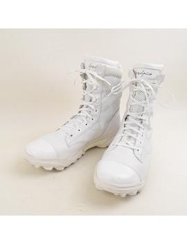 yohji-yamamoto-toothpick-yamamoto-x-adidas-adidas-08ss-mesh-leather-combat-boot-men-white-275cm by rakuten-global-market
