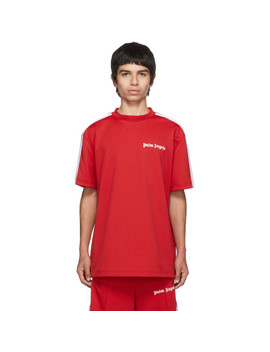 red-track-t-shirt by palm-angels