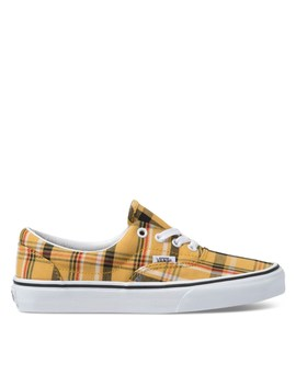 Women's Era Sneakers In Yellow Plaid by Vans