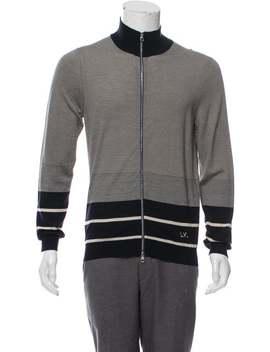 wool-&-silk-blend-zip-up-sweater by louis-vuitton