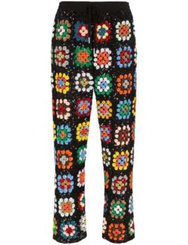 patchwork-crochet-track-pants by ashish