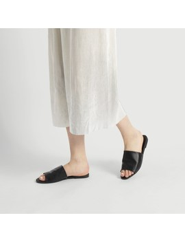 Women's Emma Black Slide by Little Burgundy