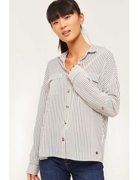 Eco Conscious Striped Crepe Blouse by Ardene