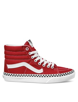 Women's Sk8 Hi Checkerboard Sneakers In Red by Vans