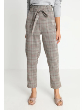 paperbag-waist-check-trousers---broek by missguided-petite