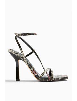 Ritz Snake Strap High Heels by Topshop