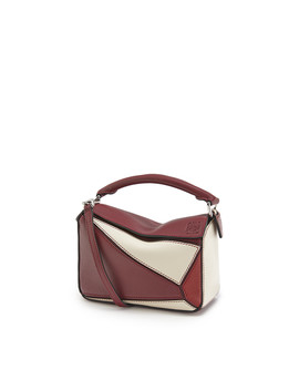 Puzzle Mini Bag 				 				 				 				 				 				 				Wine/Garnet by Loewe