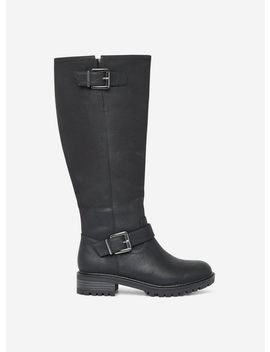 Wide Fit 'Kahula' Black Long Boots by Dorothy Perkins
