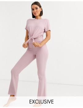 loungeable---mix-en-match---geribbelde-flares-in-roze by loungeable