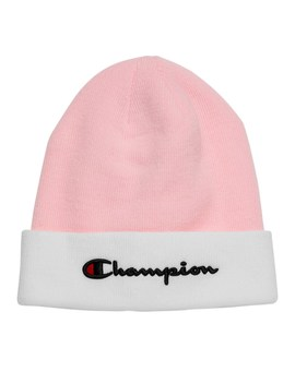 Script Beanie In Pink by Champion