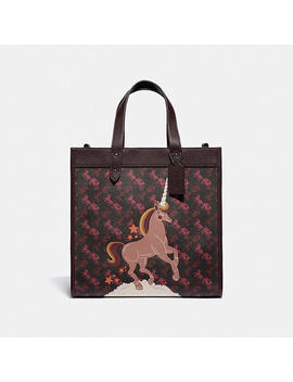 field-tote-with-horse-and-carriage-print-and-unicorn by coach