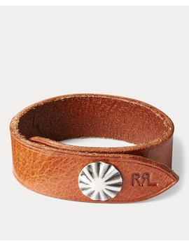 concho-leather-cuff by ralph-lauren